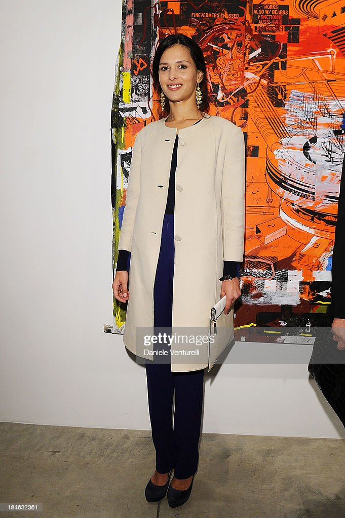 Natalie Dompe attends Cardi Black Box Gallery Present Nicolas Pol hosted by Nicolo Cardi And Vladimir Restoin Roitfeld at Cardi Black Box on October 14, 2013 in Milan, Italy.