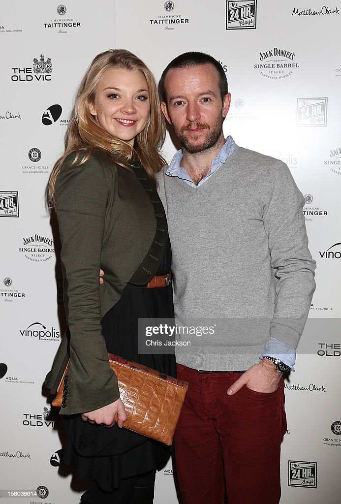 Natalie Dormer and Anthony Byrne attend the post-show party, The 25th Hour, following The Old Vic's 24 Hour Musicals Celebrity Gala 2012 during which guests drank Jack Daniels Single Barrel, Curtain Raiser cocktails in The Great Halls, Vinopolis, Borough on December 9, 2012 in London, England.
