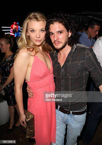 Natalie Dormer and Kit Harington attend 'Brazil Night' at Omega House on August 10 2012 in London England