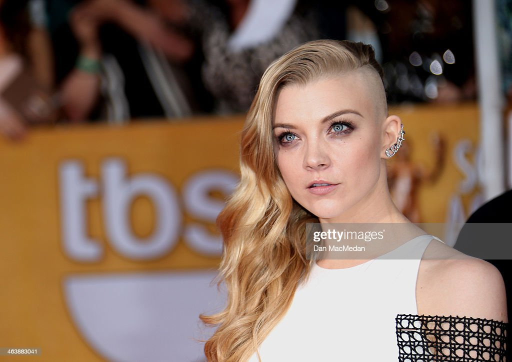 Natalie Dormer arrives at the 20th Annual Screen Actors Guild Awards at the Shrine Auditorium on January 18, 2014 in Los Angeles, California.