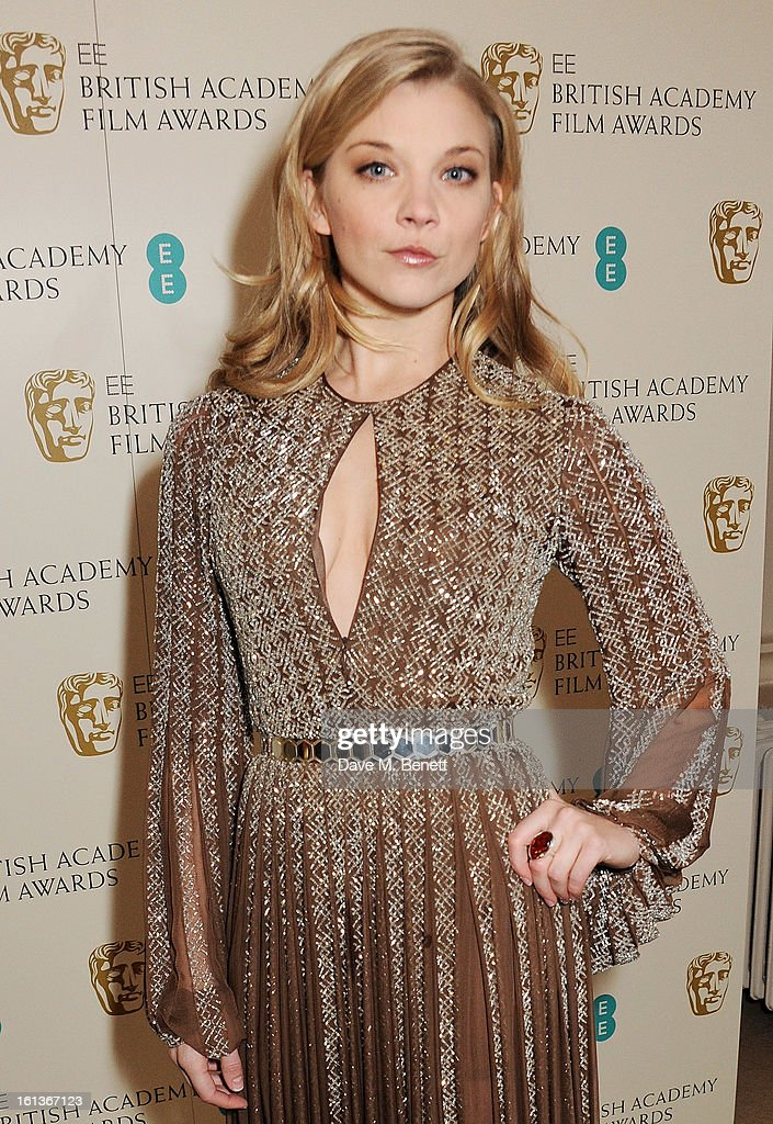 Natalie Dormer arrives at the EE British Academy Film Awards at the Royal Opera House on February 10, 2013 in London, England.