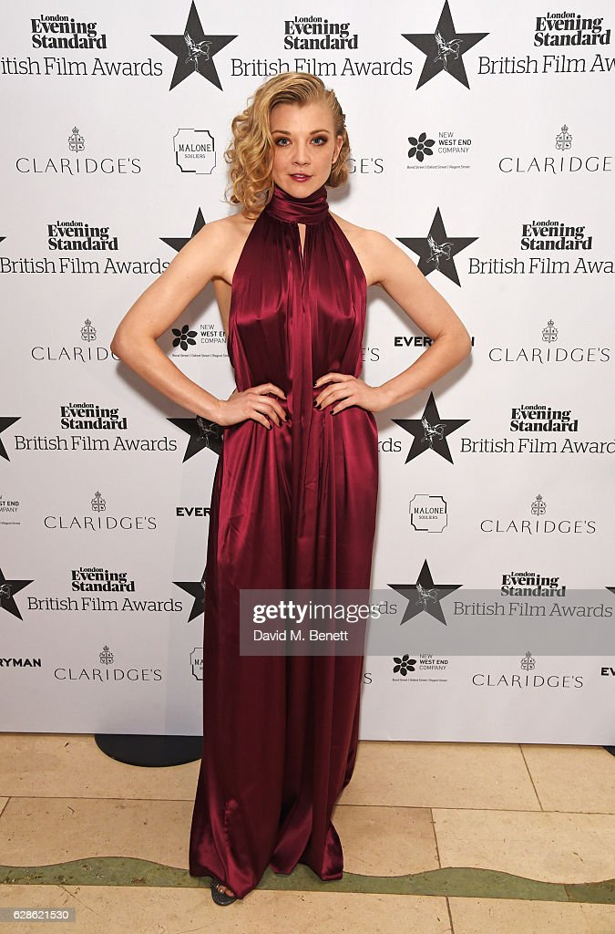 Natalie Dormer arrives at The London Evening Standard British Film Awards at Claridge's Hotel on December 8, 2016 in London, England.