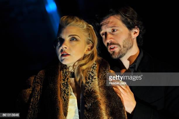 Natalie Dormer as Vanda Jordan and David Oakes as Thomas Novachek in David Ives Venus in Fur directed by Patrick Marber at the Theatre Royal...