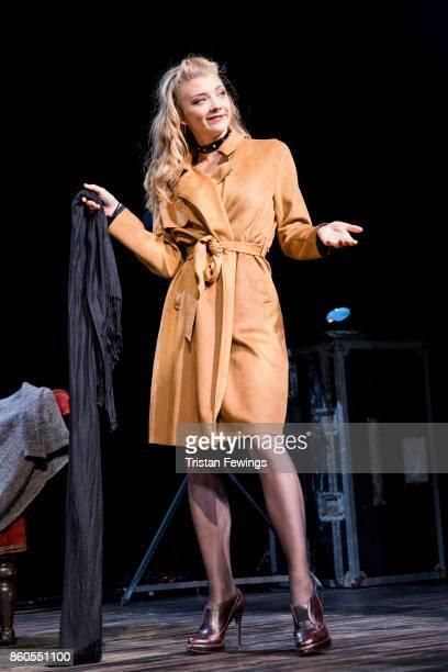 Natalie Dormer as Vanda Jordan during the Venus In Fur photocall at Theatre Royal on October 12 2017 in London England