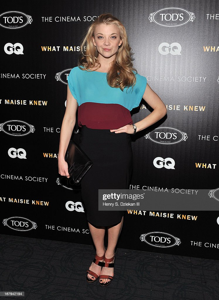 Natalie Dormer attends The Cinema Society with Tod's & GQ screening of Millennium Entertainment's 'What Maisie Knew' at Sunshine Landmark on May 2, 2013 in New York City.