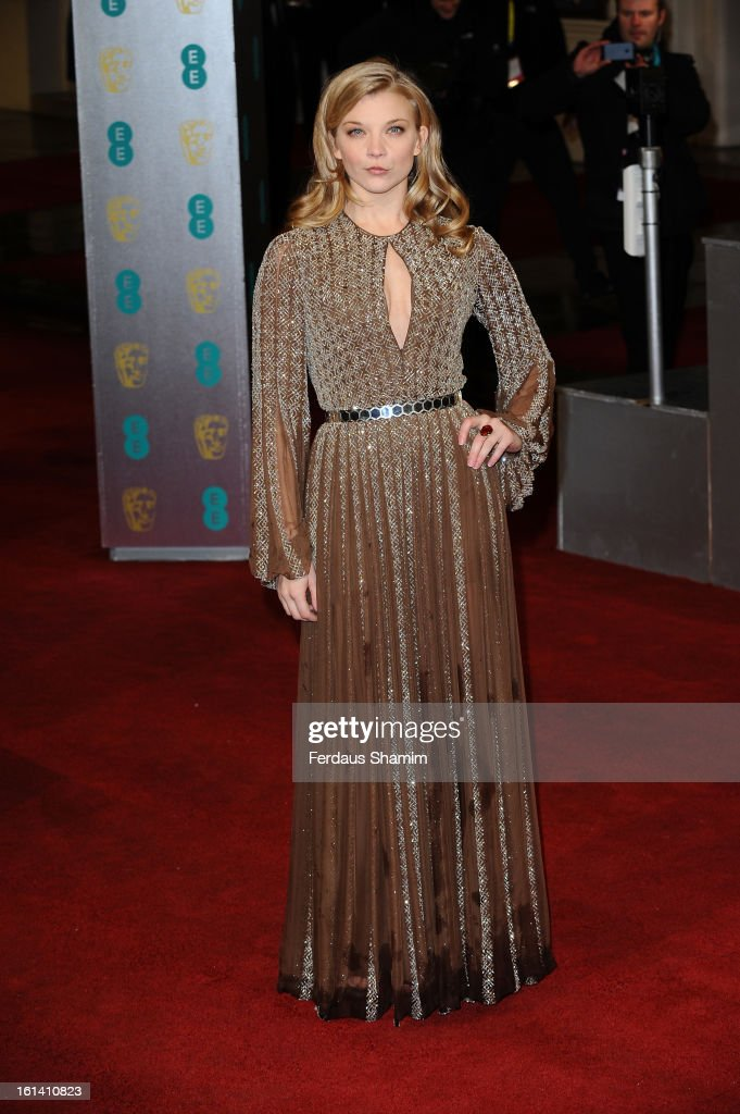 Natalie Dormer attends the EE British Academy Film Awards at The Royal Opera House on February 10, 2013 in London, England.