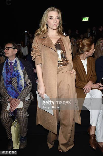 Natalie Dormer attends the Max Mara show during Milan Fashion Week Fall/Winter 2016/17 on February 25 2016 in Milan Italy