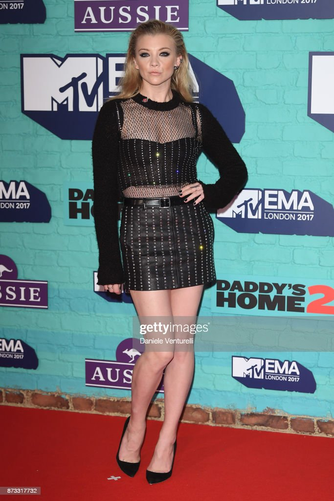 Natalie Dormer attends the MTV EMAs 2017 held at The SSE Arena, Wembley on November 12, 2017 in London, England.