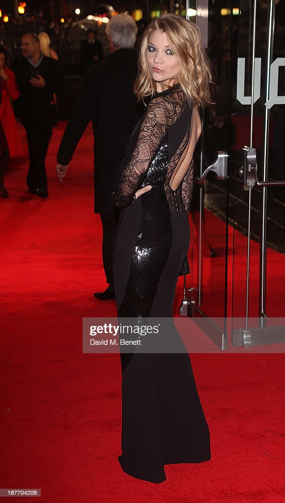 Natalie Dormer attends the UK Premiere of 'The Hunger Games: Catching Fire' at Odeon Leicester Square on November 11, 2013 in London, England.