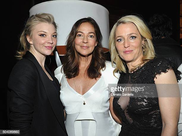 Natalie Dormer Kelly Klein Gillian Anderson attend Photographs by Kelly Klein Hosted by Barry Diller and Jason Weinberg at BOA Steakhouse on January...