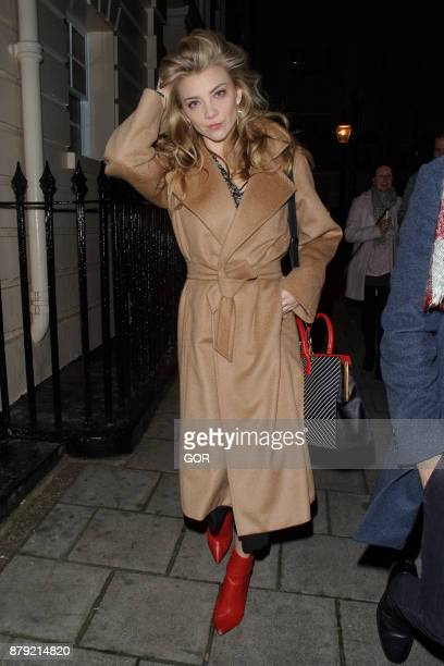 Natalie Dormer leaving the Theatre Royal Haymarket on November 25 2017 in London England