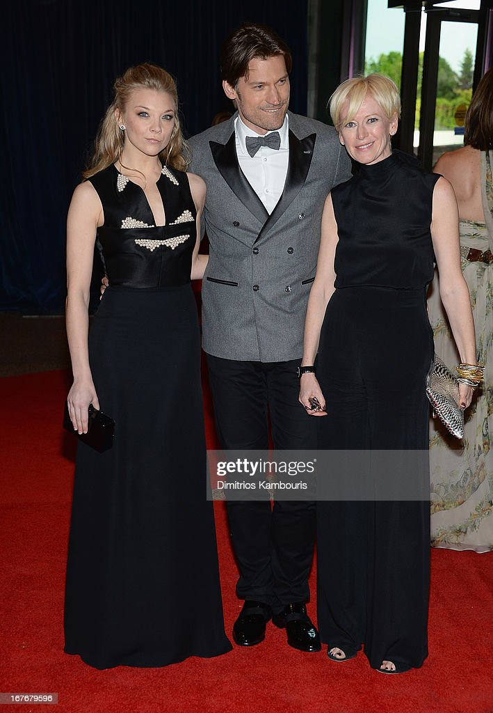 <a gi-track='captionPersonalityLinkClicked' href=/galleries/search?phrase=Natalie+Dormer&family=editorial&specificpeople=817757 ng-click='$event.stopPropagation()'>Natalie Dormer</a> Nikolaj, Coster-Waldau and <a gi-track='captionPersonalityLinkClicked' href=/galleries/search?phrase=Joanna+Coles&family=editorial&specificpeople=4060670 ng-click='$event.stopPropagation()'>Joanna Coles</a> attend the White House Correspondents' Association Dinner at the Washington Hilton on April 27, 2013 in Washington, DC.