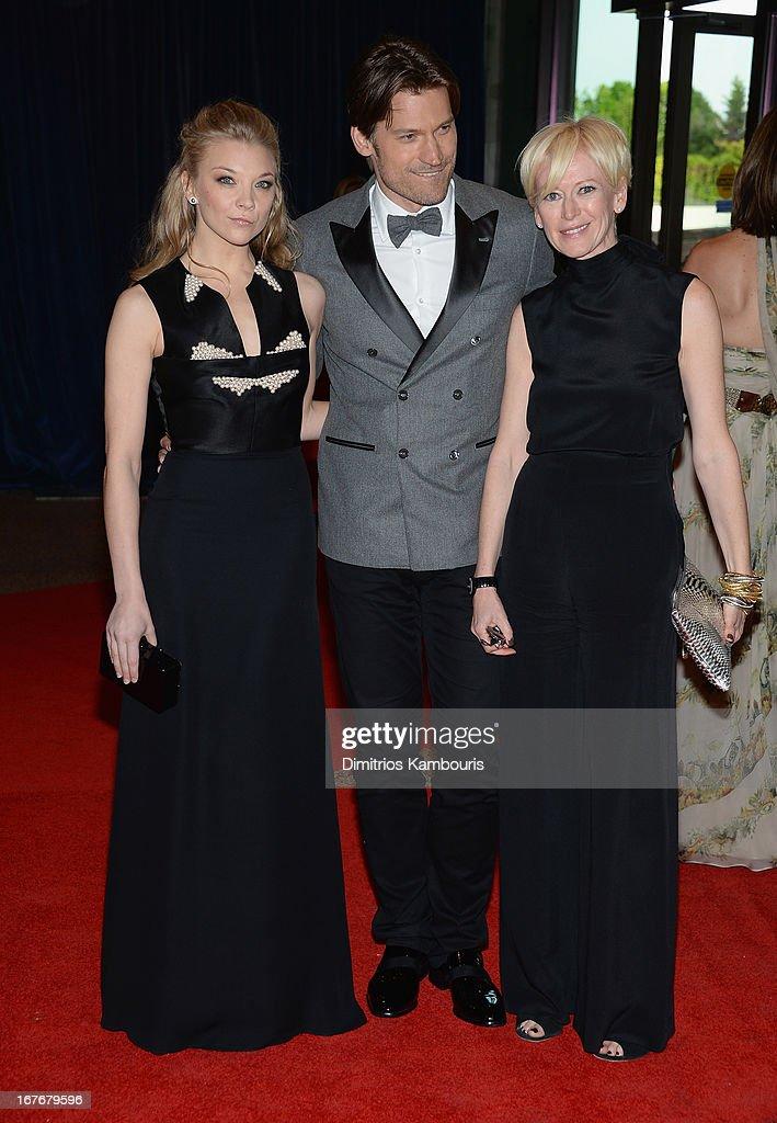 Natalie Dormer Nikolaj CosterWaldau and Joanna Coles attend the White House Correspondents' Association Dinner at the Washington Hilton on April 27...