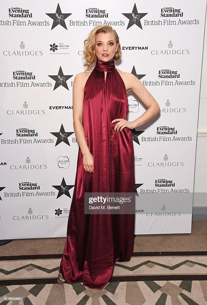 Natalie Dormer poses at The London Evening Standard British Film Awards at Claridge's Hotel on December 8, 2016 in London, England.