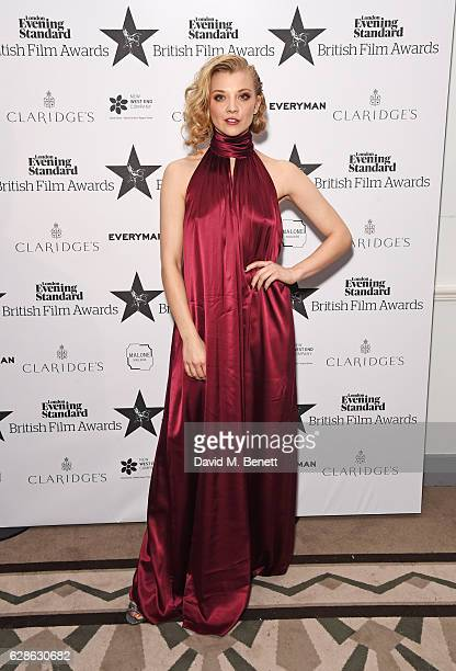 Natalie Dormer poses at The London Evening Standard British Film Awards at Claridge's Hotel on December 8 2016 in London England