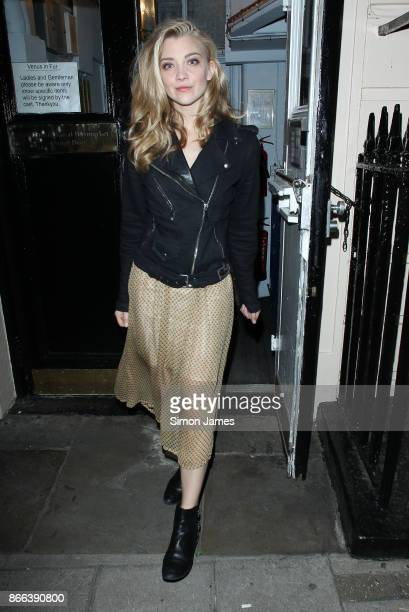 Natalie Dormer seen leaving the Theatre Royal on October 25 2017 in London England