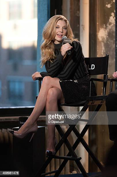 Natalie Dormer speaks onstage during AOL's BUILD Speaker Series Presents In Conversation With Natalie Dormer at AOL Studios In New York on November...