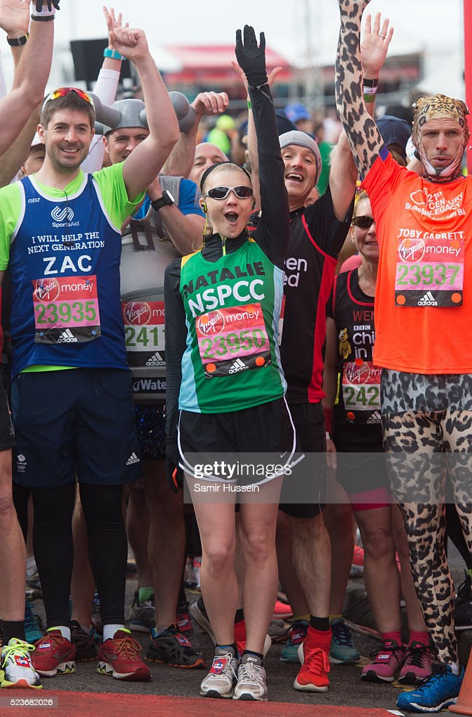 London Marathon: Celebrity Runners