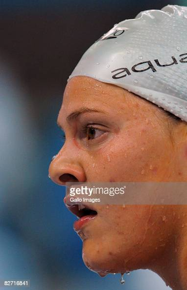 Natalie Du Toit of South Africa competes in the Women's 100m Freestyle S9 during Day 2 of the Swimming Finals of the Beijing Paralympic Games on...