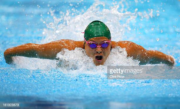 Natalie du Toit of South Africa competes in the Women's 200m Individual Medley SM9 heat 2on day 8 of the London 2012 Paralympic Games at Aquatics...