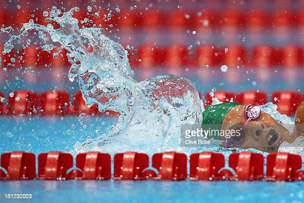 Natalie du Toit of South Africa competes in the Women's 400m Freestyle S9 final on day 6 of the London 2012 Paralympic Games at Aquatics Centre on...