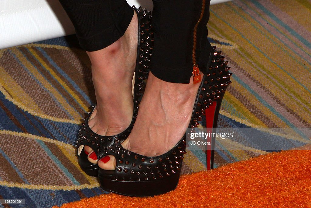Natalie Gal (shoes detail) attends Lupus LA 13th Annual Orange Ball Gala at Regent Beverly Wilshire Hotel on May 9, 2013 in Beverly Hills, California.