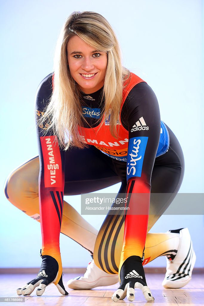 <a gi-track='captionPersonalityLinkClicked' href=/galleries/search?phrase=Natalie+Geisenberger&family=editorial&specificpeople=4698568 ng-click='$event.stopPropagation()'>Natalie Geisenberger</a> pose during a photocall on January 6, 2014 in Miesbach, Germany.