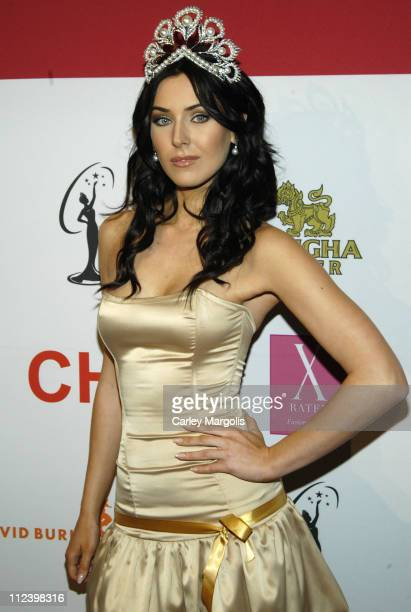 Natalie Glebova Miss Universe 2005 during Donald Trump Drew Lachey and Carson Kressley Launch New Beauty Book 'The Miss Universe Guide to Beauty'...