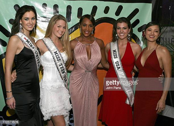 Natalie Glebova Miss Universe Allie Laforce Miss TeenViviana AFox Chelsea Cooley Miss USA and Kelly Hu