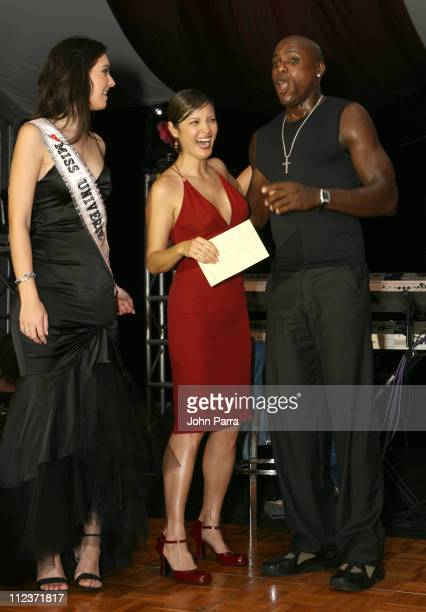 Natalie Glebova Miss Universe Kelly Hu and Carl Lewis