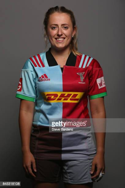 Natalie Groom of Harlequins Ladies poses for a portrait during the Harlequins Ladies Squad Photo call for the 2017/18 Tyrrells Premier 15s Season at...