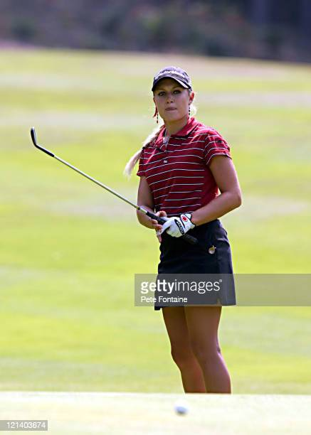 Natalie Gulbis competes during the third round of the Weetabix Women's British Open at the Sunningdale Golf Club July 31 2004