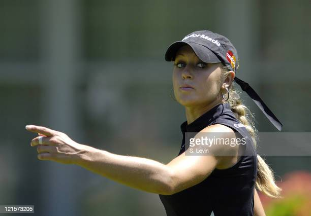 Natalie Gulbis during the continuation of the second round of the Jamie Farr Owens Corning Classic at Highland Meadows Golf Club in Sylvania Ohio on...