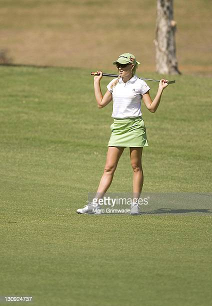 Natalie Gulbis during the first round of the 2007 ANZ Ladies Masters at Royal Pines Resort in Queensland Australia on February 8 2007