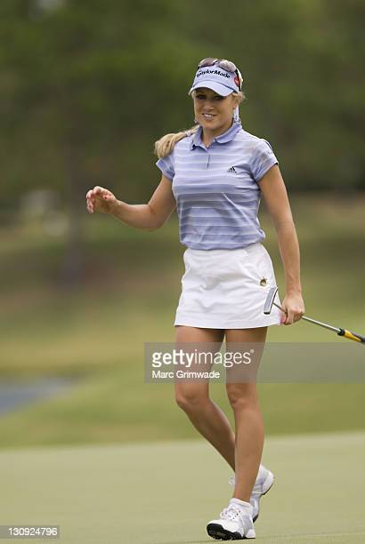 Natalie Gulbis during the third round of the ANZ Ladies Masters at Royal Pines on the Gold Coast Australia on February 10 2007
