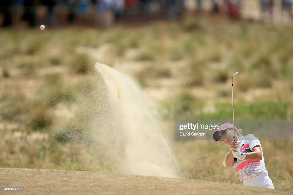 Natalie Gulbis of the USA plays her third shot at the par 4, 12th hole during the second round of the 69th U.S. Women's Open at Pinehurst Resort & Country Club, Course No. 2, on June 20, 2014 in Pinehurst, North Carolina.