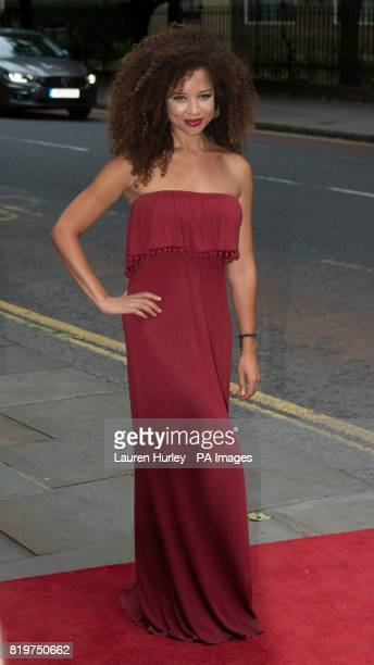 Natalie Gumede attending the opening night of Sadleracircs Wells summer tango spectacular Tanguera in London