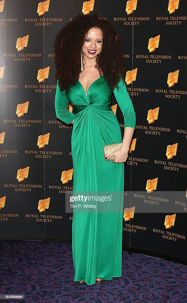 Natalie Gumede attends the RTS Programme Awards at Grosvenor House, on March 19, 2013 in London, England.