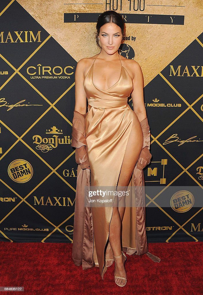 Natalie Halcro arrives at the Maxim Hot 100 Party at the Hollywood Palladium on July 30, 2016 in Los Angeles, California.