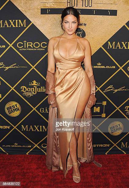 Natalie Halcro arrives at the Maxim Hot 100 Party at the Hollywood Palladium on July 30 2016 in Los Angeles California