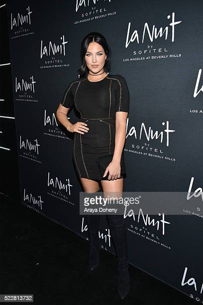 Natalie Halcro attends LA NUIT by Sofitel Los Angeles at Beverly Hills at Sofitel Hotel on April 20 2016 in Los Angeles California