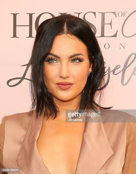 Natalie Halcro attends the House of CB Flagship store launch on May 14 2016 in West Hollywood California