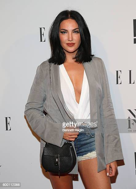 Natalie Halcro WAGS attends the E New York Fashion Week Kick Off at Santina on September 7 2016 in New York City