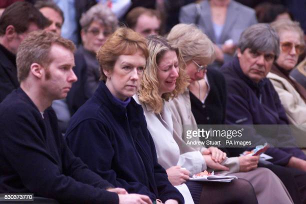 Natalie Hogg weeps in memory of her sister Andrea Dykes who was killed by the nail bomb in the Admiral Duncan pub central London a year ago 30/4/99...