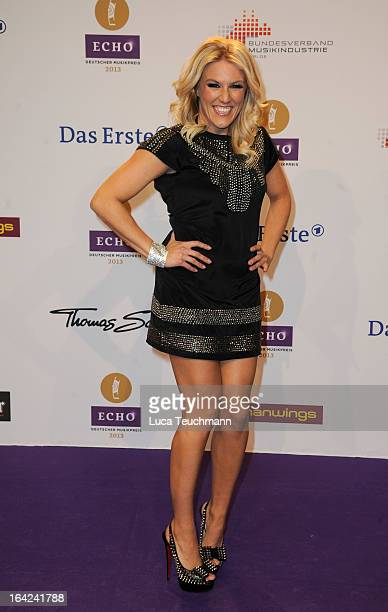 Natalie Horler attends the Echo Award 2013 at Palais am Funkturm on March 21 2013 in Berlin Germany