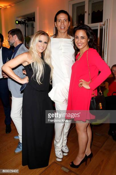 Natalie Horler Jorge Gonzalez Nina Moghaddam attend the 'Bertelsmann Summer Party' at Bertelsmann Repraesentanz on June 22 2017 in Berlin Germany