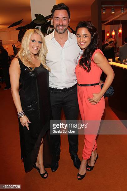 Natalie Horler Marco Schreyl Nina Moghaddam attend the CHIO 2014 media night on July 15 2014 in Aachen Germany