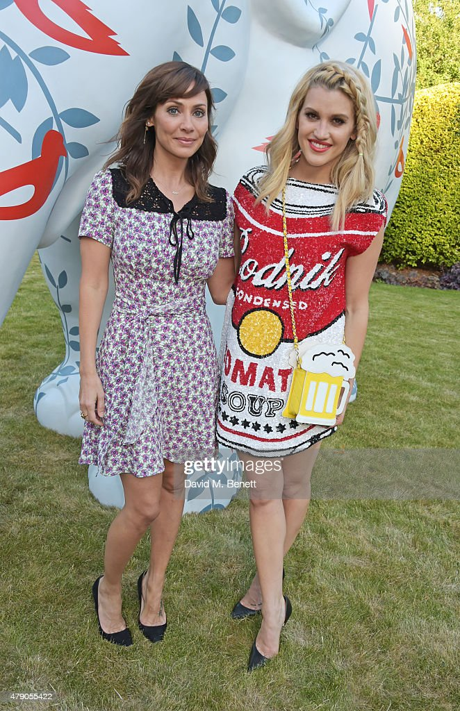 Natalie Imbruglia and Ashley Roberts attend the Quintessentially Foundation and Elephant Family's Royal Rickshaw Auction presented by Selfridges at...