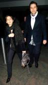 Natalie Imbruglia and David Walliams during David Walliams and Natalie Imbruglia Sighting at Nobu in London February 26 2006 at Nobu Restaurant in...