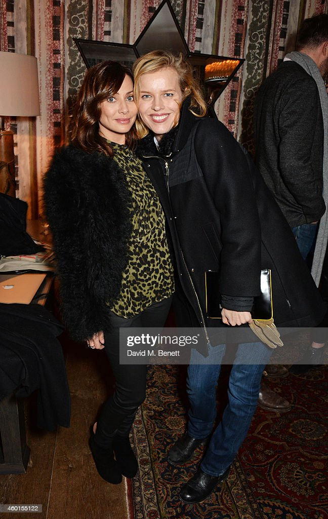 Natalie Imbruglia (L) and Eva Herzigova attend a VIP screening of 'St. Vincent' hosted by Poppy Delevingne at The Covent Garden Hotel on December 8, 2014 in London, England.